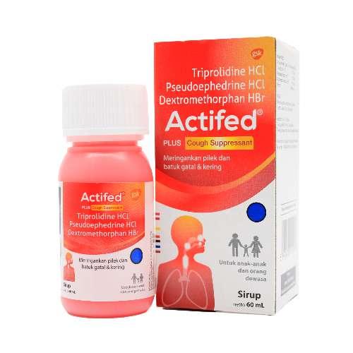 Apotek Online Farmaku com Actifed Cough (Merah) 60 ml